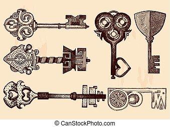 Fantasy keys set