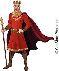 Fantasy King in Red - Illustration of fantasy king in red