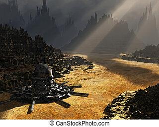 Fantasy landscape