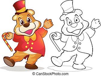 Fantasy mascot bear cartoon