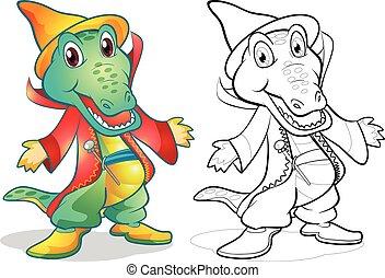 Fantasy mascot crocodile cartoon