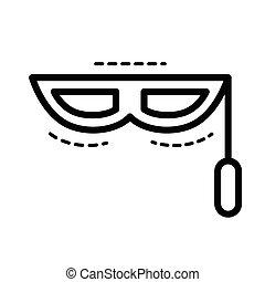 fantasy mask icon  line style