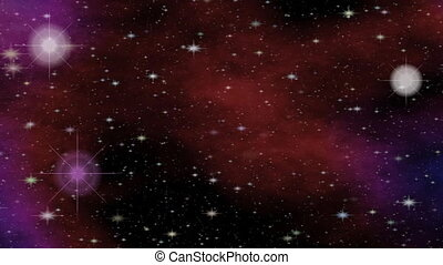 Fantasy meteorites in cosmos, sci-fi video with outer space theme, intro animation for astronomical lectures