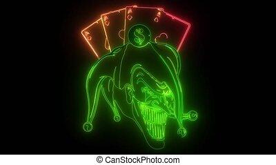fantasy of a joker vampire zombie wearing a clown hat