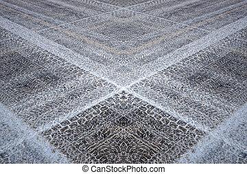 Fantasy pattern based on tyre prints