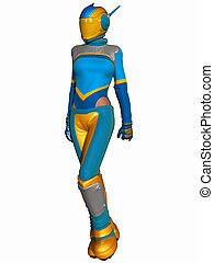 Fantasy Race Suit - 3D Render of an Fantasy Race Suit