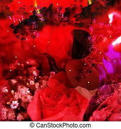 Fantasy red background