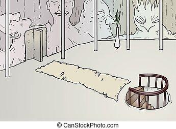 fantasy room illustration