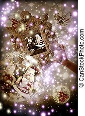 Fantasy Santa Claus Christmas greeting card