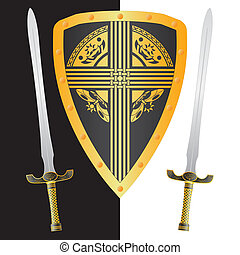 fantasy shield and swords.third variant