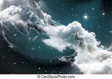 Fantasy space nebula