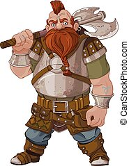 Fantasy Style Dwarf - Fantasy style Dwarf with axe