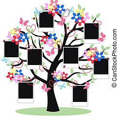 fantasy tree with frames