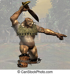 Fantasy Troll - Fantasy Series: Troll - Image with Clipping...