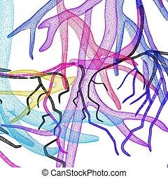 Fantasy veins. Medical illustration