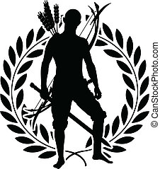 fantasy warrior with laurel wreath