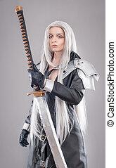 Fantasy woman warrior