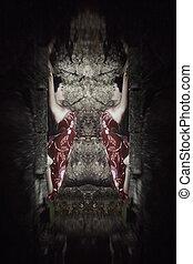 fantasy yoga woman composite