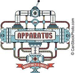 fantasztikus, steampunk, berendezés