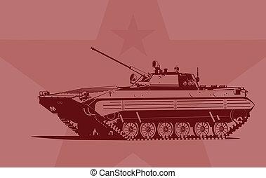 fanteria, combattimento, veicolo