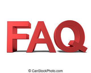 FAQ 3d text
