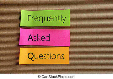 FAQ acronym - Frequently Asked Questions text on colorful ...