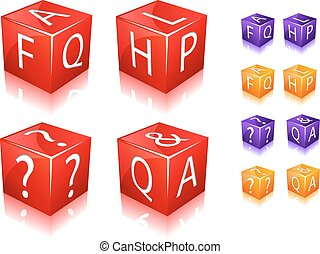 FAQ and help cube icon