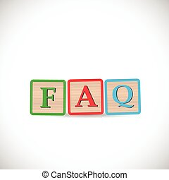 faq, bloc, illustration