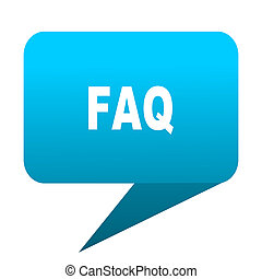 faq blue bubble icon