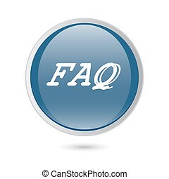 FAQ Blue Vector Icon Button