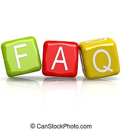 FAQ buzzword image with hi-res rendered artwork that could...