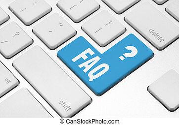 faq, clavier ordinateur