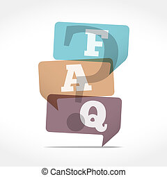 FAQ - Speech Bubbles with FAQ symbol, vector eps10...