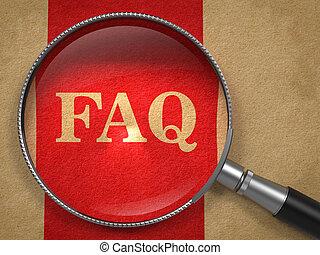 FAQ Concept Through Magnifying Glass. - FAQ Concept. ...