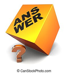 Faq - Question answer concept.