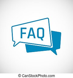 FAQ. Frequently Asked Question as Speech bubble Icon....
