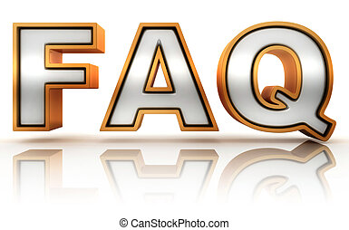 FAQ - frequently asked question abbreviation, golden letter...