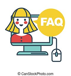 FAQ frequently asked question, online support service by women