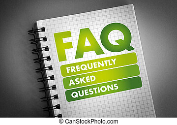 FAQ - Frequently Asked Questions acronym