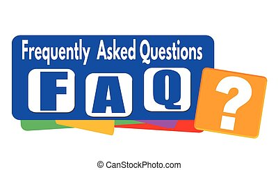 FAQ (frequently asked questions) banner or label - FAQ...