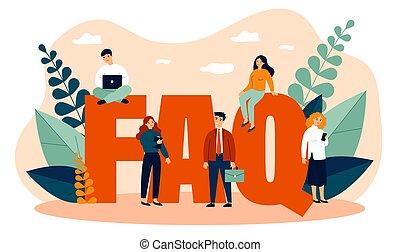 FAQ giant letters