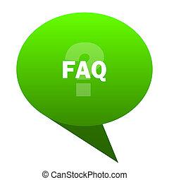 faq green bubble icon