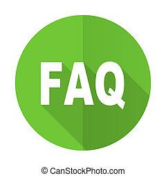 faq green flat icon