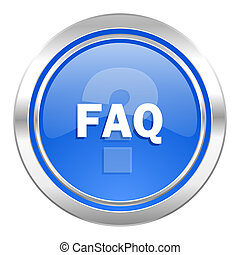 faq icon, blue button