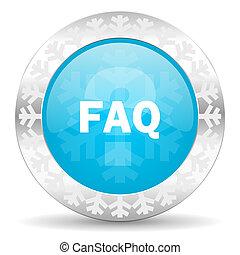 faq icon, christmas button