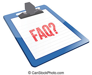FAQ Icon clipboard illustration design over a white background