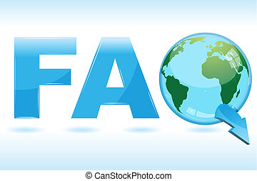 faq icon - illustration of faq icon  with globe