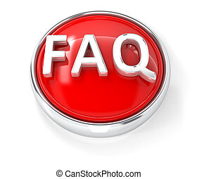 FAQ icon on glossy red round button