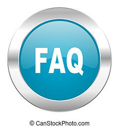 faq internet blue icon