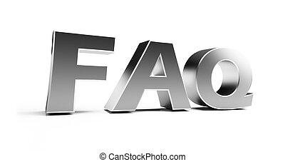 FAQ on a white background
